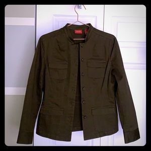 Valerie Stevens Green Utility Jacket NWOT